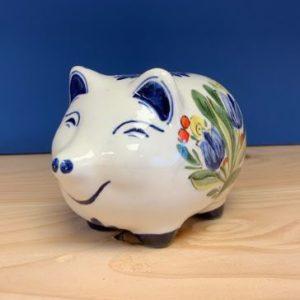 Blauwe Design Bank.Piggy Bank Blue Tulips Design The Gouda Shop
